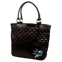 San Jose Sharks NHL Quilted Tote (Black)