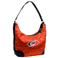 Carolina Hurricanes NHL Quilted Hobo (Light Red)