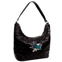 San Jose Sharks NHL Quilted Hobo (Black)