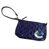 Vancouver Canucks NHL Quilted Wristlet (Navy)