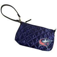 Columbus Blue Jackets NHL Quilted Wristlet (Navy)