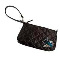 San Jose Sharks NHL Quilted Wristlet (Black)
