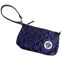 Winnipeg Jets NHL Quilted Wristlet (Navy)