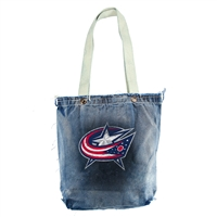 Columbus Blue Jackets NHL Vintage Denim Shopper