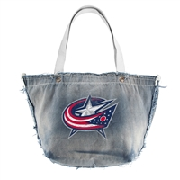 Columbus Blue Jackets NHL Vintage Denim Tote