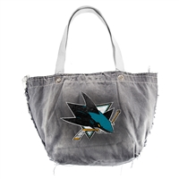 San Jose Sharks NHL Vintage Denim Tote