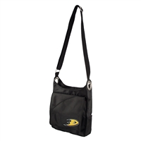 Anaheim Ducks NHL Color Sheen Cross-body Bag (Black)