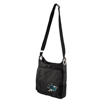 San Jose Sharks NHL Color Sheen Cross-body Bag (Black)