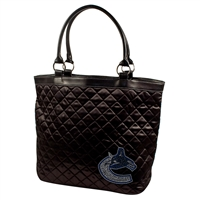 Vancouver Canucks NHL Sport Noir Quilted Tote