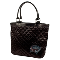 Columbus Blue Jackets NHL Sport Noir Quilted Tote