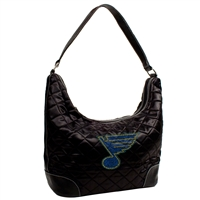 St. Louis Blues NHL Sport Noir Quilted Hobo