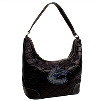 Vancouver Canucks NHL Sport Noir Quilted Hobo