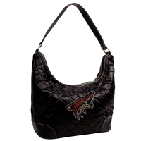 Arizona Coyotes NHL Sport Noir Quilted Hobo