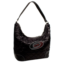 Carolina Hurricanes NHL Sport Noir Quilted Hobo
