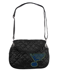 St. Louis Blues NHL Sport Noir Quilted Saddlebag