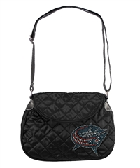 Columbus Blue Jackets NHL Sport Noir Quilted Saddlebag