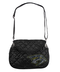 Nashville Predators NHL Sport Noir Quilted Saddlebag