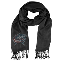 Columbus Blue Jackets NHL Black Pashi Fan Scarf