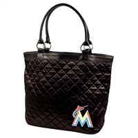 Miami Marlins MLB Quilted Tote (Black)
