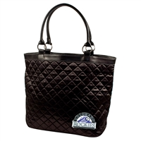 Colorado Rockies MLB Quilted Tote (Black)