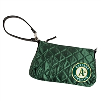 Oakland Athletics MLB Quilted Wristlet (Dark Green)