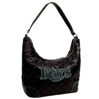Tampa Bay Rays MLB Sport Noir Quilted Hobo