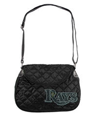 Tampa Bay Rays MLB Sport Noir Quilted Saddlebag