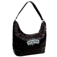 San Antonio Spurs NBA Quilted Hobo (Black)