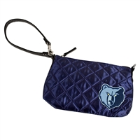 Memphis Grizzlies NBA Quilted Wristlet (Navy)