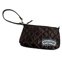 San Antonio Spurs NBA Quilted Wristlet (Black)