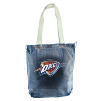 Oklahoma City Thunder NBA Vintage Denim Shopper