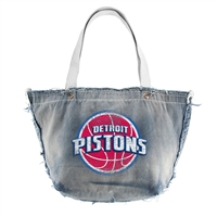 Detroit Pistons NBA Vintage Denim Tote