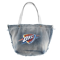 Oklahoma City Thunder NBA Vintage Denim Tote