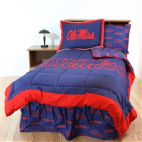 Ole Miss Rebels Bed in a Bag Queen - With Team Colored Sheets