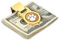 Clemson Tigers Money Clip - Gold