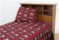 Mississippi State Bulldogs Printed Sheet Set Queen - Solid