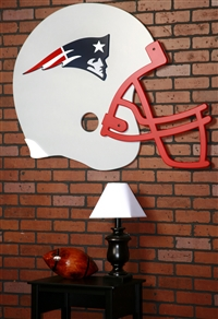New England Patriots Giant Helmet Art