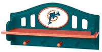 Miami Dolphins Shelf with Pegs