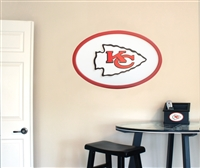 Kansas City Chiefs 31 inch Logo Wall Art