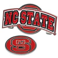 North Carolina State Wolfpack Slider Hat Clip Ball Marker