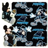 Carolina Panthers NFL Mickey Mouse with Throw Combo