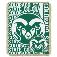 Colorado State Rams NCAA Triple Woven Jacquard Throw (Double Play Series) (48x60)