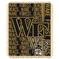 Wake Forest Demon Deacons NCAA Triple Woven Jacquard Throw (Double Play Series) (48x60)