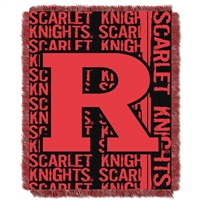 Rutgers Scarlet Knights NCAA Triple Woven Jacquard Throw (Double Play Series) (48x60)