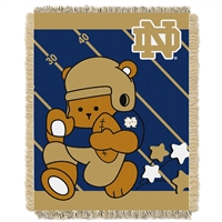 Notre Dame Fighting Irish NCAA Triple Woven Jacquard Throw (Fullback Baby Series) (36x48)