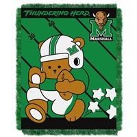 Marshall Thundering Herd NCAA Triple Woven Jacquard Throw (Fullback Baby Series) (36x48)