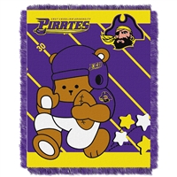 East Carolina Pirates NCAA Triple Woven Jacquard Throw (Fullback Baby Series) (36x48)