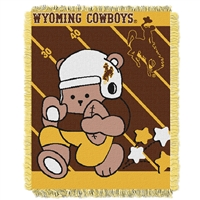 Wyoming Cowboys NCAA Triple Woven Jacquard Throw (Fullback Baby Series) (36x48)
