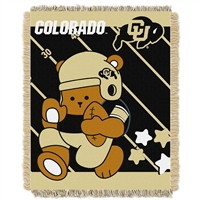 Colorado Golden Buffaloes NCAA Triple Woven Jacquard Throw (Fullback Baby Series) (36x48)