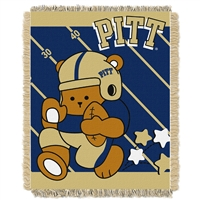 Pittsburgh Panthers NCAA Triple Woven Jacquard Throw (Fullback Baby Series) (36x48)